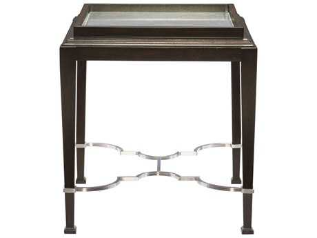 Bernhardt Brentford Raven with Antique Mirror 24'' Wide Square End Table