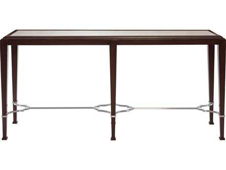 Bernhardt Brentford Raven with Antique Mirror 68''L x 18''W Rectangular Console Table