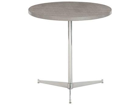 Bernhardt Pemberton Gray 23'' Wide Round Pedestal Table