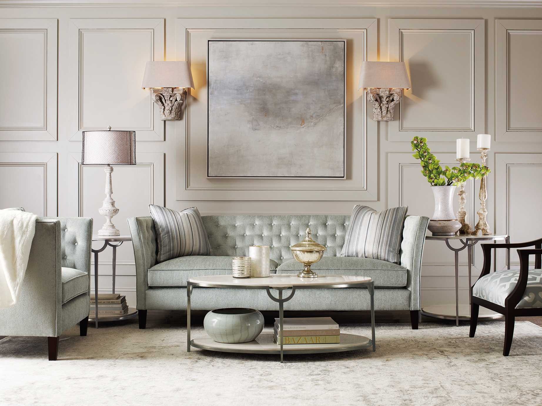 Bernhardt Morello Faux Carrar Marble With Oxidized Nickel
