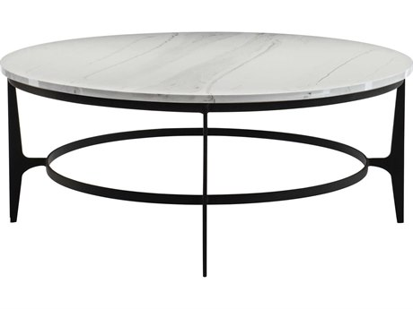 Bernhardt Avondale Gray / Black 44'' Wide Round Coffee Table
