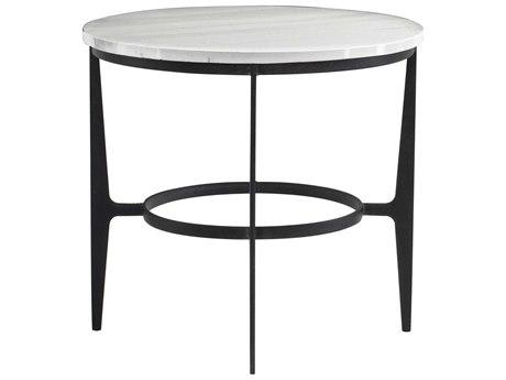 Bernhardt Avondale Blackened 26'' Wide Round End Table