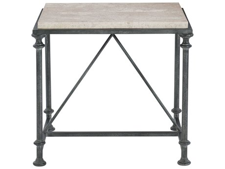 Bernhardt Galesbury Antique Silver 22'' Wide Square End Table BH537121