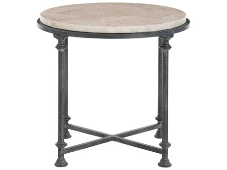 Bernhardt Galesbury Antique Silver 26'' Wide Round End Table