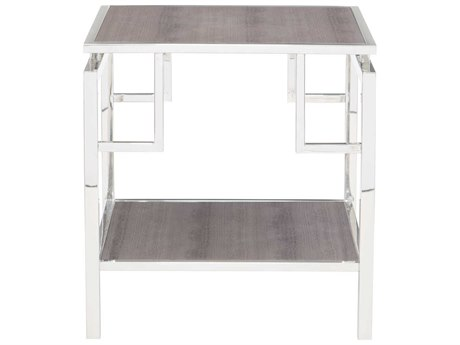 Bernhardt Halton Silver 24'' Wide Rectangular End Table