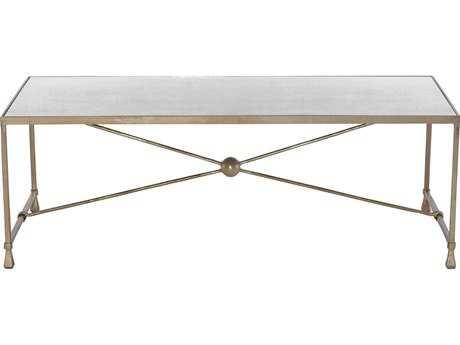 Bernhardt Rowley Soft Gold 53''L x 25''W Rectangular Coffee Table