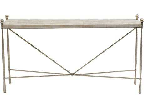 Bernhardt Clarion White & Champagne Silver 59''L x 15''W Rectangular Console Table