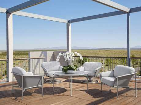 Brown Jordan Verge Aluminum Conversation Lounge Set