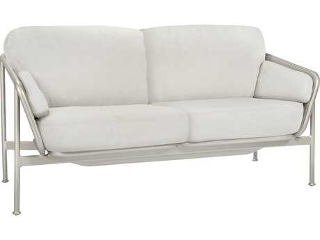 Brown Jordan Verge Aluminum Loveseat with Loose Cushions
