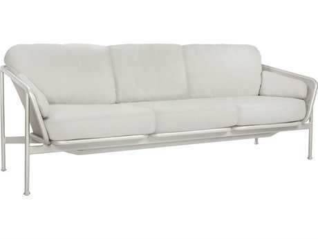 Brown Jordan Verge Aluminum Sofa with Loose Cushions