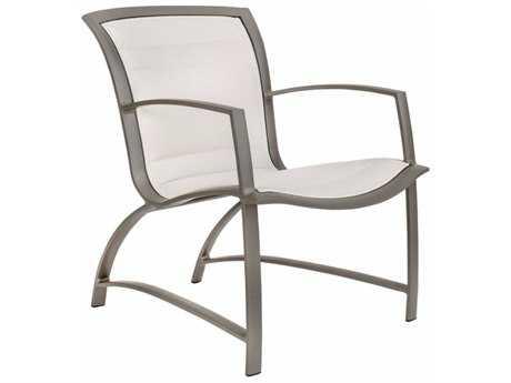 Brown Jordan Wave Padded Sling Aluminum Arm Chair