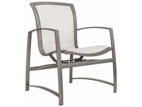 Brown Jordan Wave Padded Sling Aluminum Motion Arm Chair