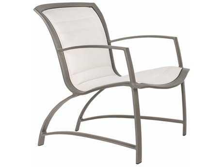 Brown Jordan Wave Padded Sling Aluminum Lounge Chair