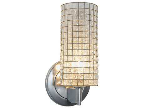 Bruck Lighting Sierra Clear Glass with Wire Mesh Wall Sconce