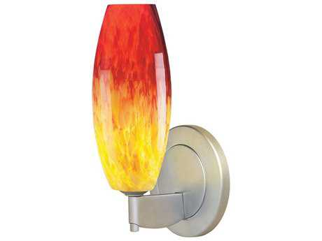 Bruck Lighting Ciro-1 Yellow and Red Glass Wall Sconce
