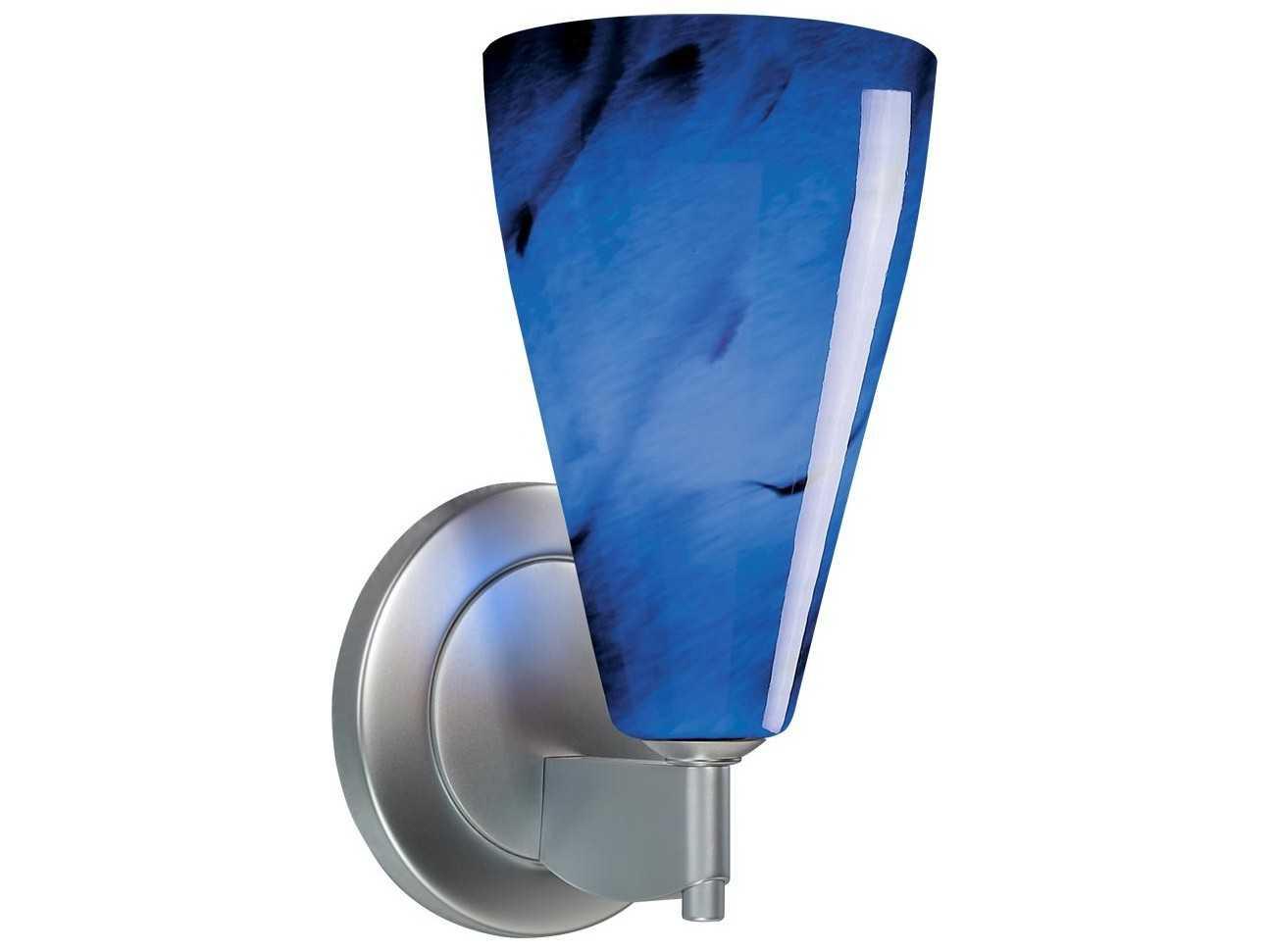 Bruck Lighting Zara Blue Glass Wall Sconce BK100302