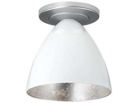 Bruck Lighting Cleo White Outer & Silver Inner Glass 6'' Wide Semi Flush Mount Light