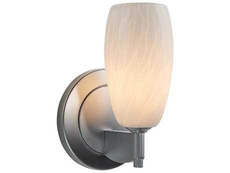 Bruck Lighting Mini-Ciro White Glass Wall Sconce