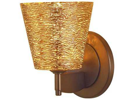 Bruck Lighting Bling Gold Glass Wall Sconce