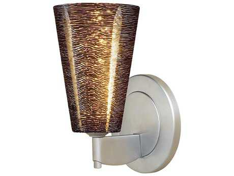 Bruck Lighting Bling Black Glass Wall Sconce