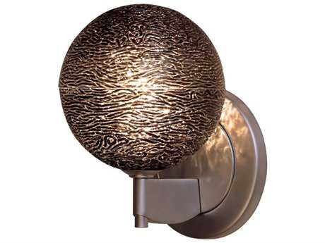 Bruck Lighting Dazzle Black Glass Wall Sconce