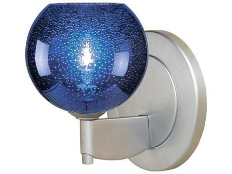 Bruck Lighting Bobo Blue Bubble Glass Halogen Wall Sconce