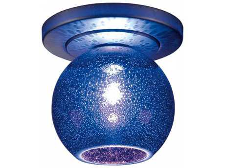Bruck Lighting Bobo Blue Bubble Glass 4'' Wide Semi Flush Mount Light