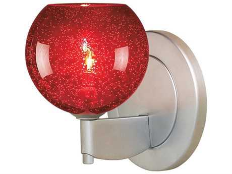 Bruck Lighting Bobo Red Blubble Glass Halogen Wall Sconce
