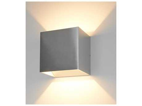 Bruck Lighting QB Brushed Chrome Outer & White Inner LED Wall Sconce with Dimming Triac