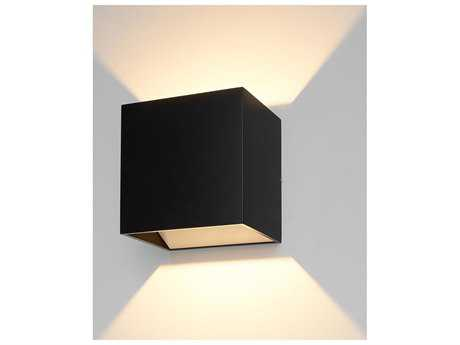 Bruck Lighting QB Black Outer & White Inner LED Wall Sconce with Dimming Triac