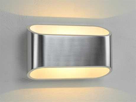 Bruck Lighting Eclipse Brushed Aluminum Outer & White Inner LED Wall Sconce