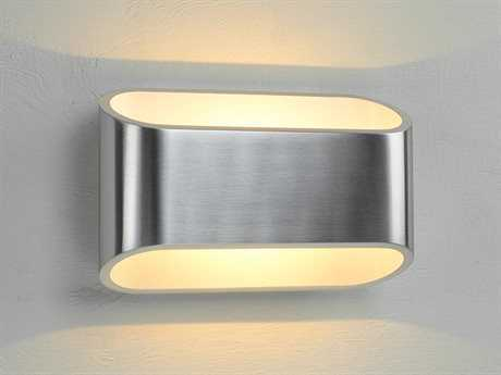 Bruck Lighting Eclipse Brushed Aluminum Outer & White Inner LED Wall Sconce with Dimming Triac