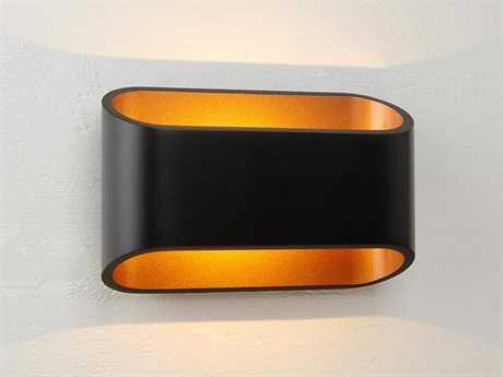 Bruck Lighting Eclipse Black Outer & Gold Inner LED Wall Sconce