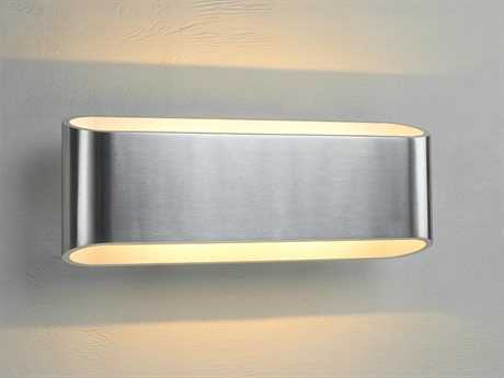 Bruck Lighting Eclipse Brushed Chrome Outer & White Inner LED Wall Sconce with Dimming Triac