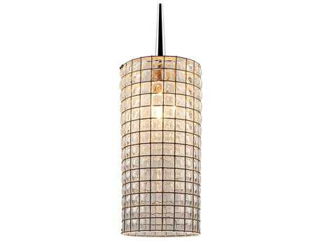 Bruck Lighting Sierra Clear Glass with Wire Mesh 3.5'' Wide Halogen Mini Pendant Light