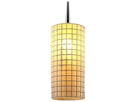 Bruck Lighting Sierra- Amber Glass with Wire Mesh 3.5'' Wide Halogen Mini Pendant Light