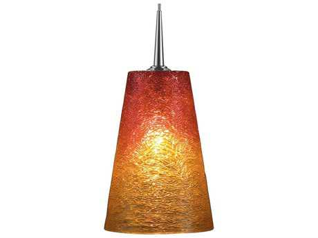 Bruck Lighting Bling- Sunrise Glass 5'' Wide Halogen Mini Pendant Light