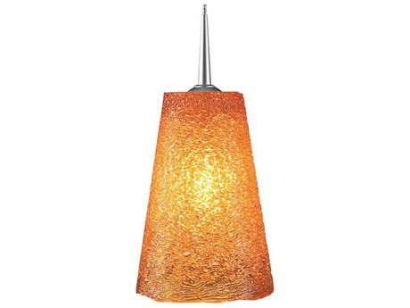 Bruck Lighting Bling Amber Glass 5'' Wide Halogen Mini Pendant Light
