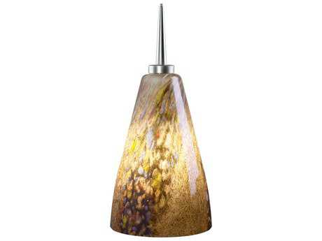 Bruck Lighting Zara- Cinnamon Glass 4'' Wide Halogen Mini Pendant Light
