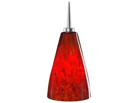 Bruck Lighting Zara- Red Glass 4'' Wide Halogen Mini Pendant Light