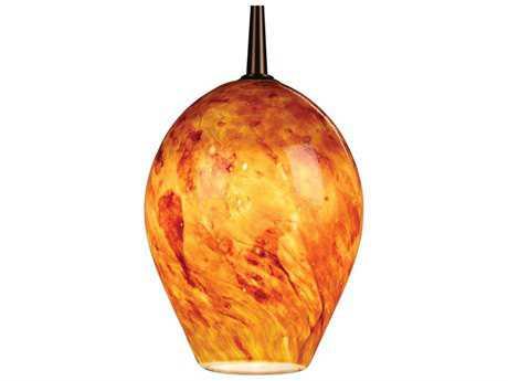 Bruck Lighting Bolero Amber Glass 5'' Wide Halogen Mini Pendant Light
