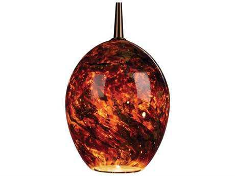 Bruck Lighting Bolero Autumn Leaf Glass 5'' Wide Halogen Mini Pendant Light