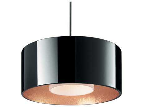 Bruck Lighting Cantara Black Outer & Gold Inner Glass 7.5'' Wide Halogen Mini Pendant Light
