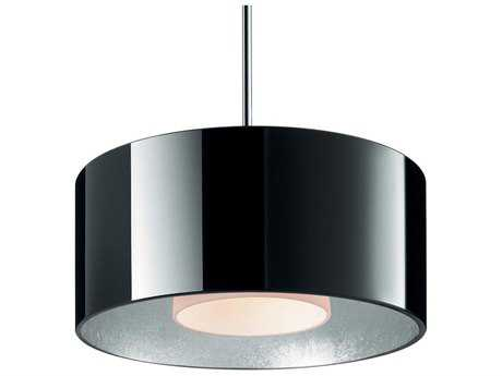Bruck Lighting Cantara Black Outer & Silver Inner Glass 7.5'' Wide Halogen Mini Pendant Light