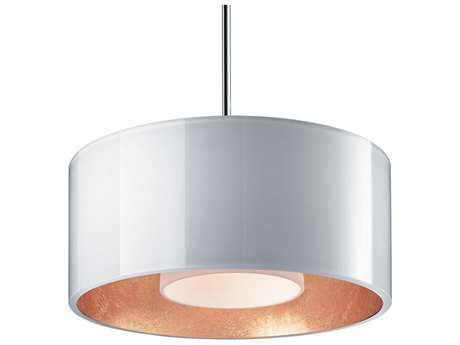 Bruck Lighting Cantara White Outer & Gold Inner, Opal Glass 7.5'' Wide Halogen Mini Pendant Light