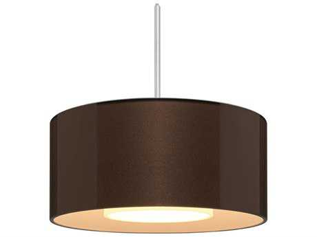 Bruck Lighting Cantara Bronze Outer & White Inner Glass 7.5'' Wide Halogen Mini Pendant Light