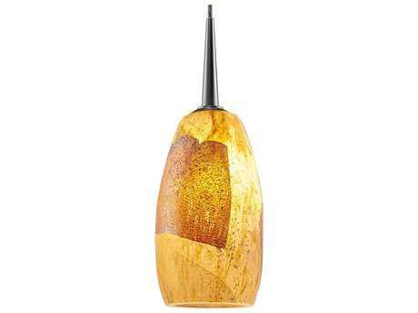 Bruck Lighting Ciro Gold-Leaf Glass 3'' Wide Halogen Mini Pendant Light