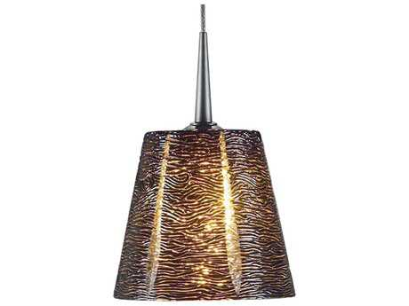 Bruck Lighting Bling- Black Glass 5'' Wide Halogen Mini Pendant Light