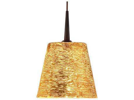 Bruck Lighting Bling- Gold Glass 5'' Wide Halogen Mini Pendant Light