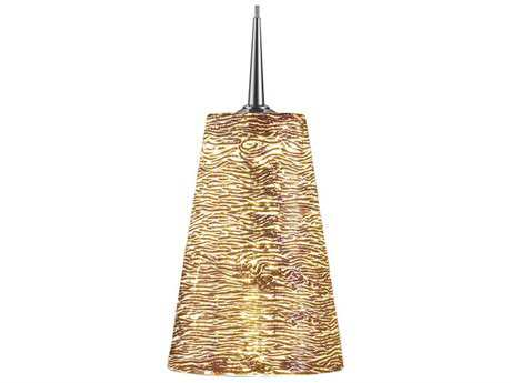 Bruck Lighting Bling- Silver Glass 5'' Wide Halogen Mini Pendant Light